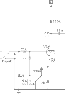 Preamp circuit schematic image